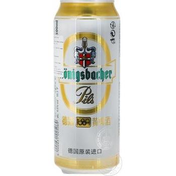 Пиво Konigsbacher Pils светлое ж/б 0.5л - купить, цены на Novus - фото 1