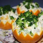 Салат с брокколи и апельсинами