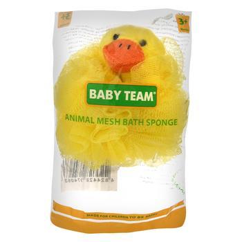 Детская мочалка-зверек Baby Team - купить, цены на Novus - фото 1