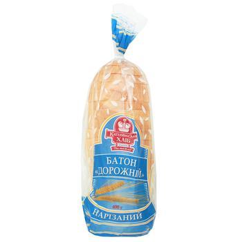 Батон Катеринославхліб Дорожній нарізка 400г - купити, ціни на Varus - фото 1