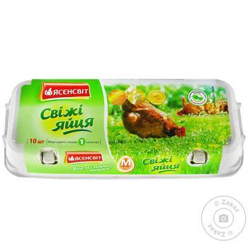 Яйца куриные Ясенсвит С1 10шт - купить, цены на Novus - фото 1
