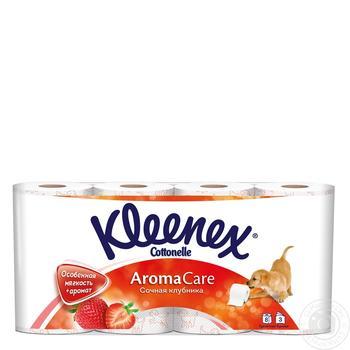 Папір туалетний Kleenex соковита полуниця 8 рулонів - купити, ціни на МегаМаркет - фото 1