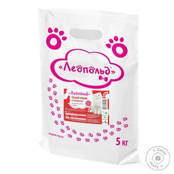 Корм для котов Леопольд Сухой с курицей 5кг - купить, цены на Фуршет - фото 1