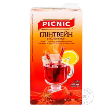 Напиток винный Пикник Глинтвейн высокогорный виноградный красный 7% 1л - купить, цены на Ашан - фото 4