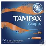 Tampax Compak Tampons with the Super Plus applicator 4 drops 16pcs