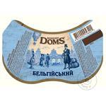 Пиво Львовское Robert Doms Бельгийский нефильтрованное  специальное пастеризованное 4,3% 0,5л - купить, цены на Novus - фото 2