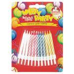 Свечи Помощница цветные для торта 24шт