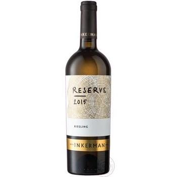 Вино Inkerman Reserve Рислинг белое сухое 10-14% 0,75л - купить, цены на Novus - фото 2