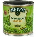 Vegetables pea Veres canned 420g