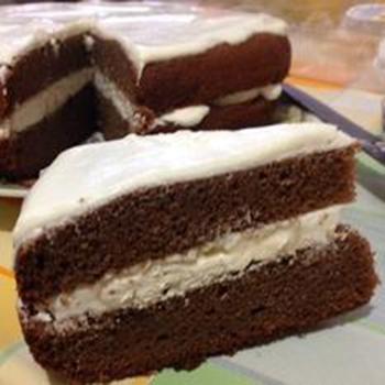 Шоколадно-гречневый торт с зефиром