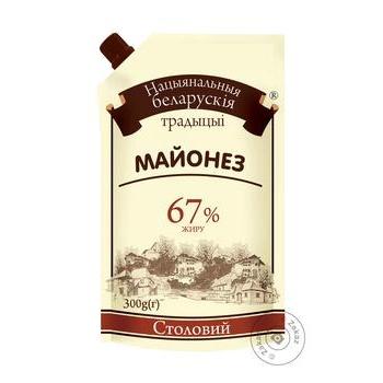 Майонез Национальная белорусская традиция Столовый 67% 300г - купить, цены на Восторг - фото 1