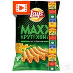 Чипси Lay's Maxx зі смаком сиру та цибулі 120г