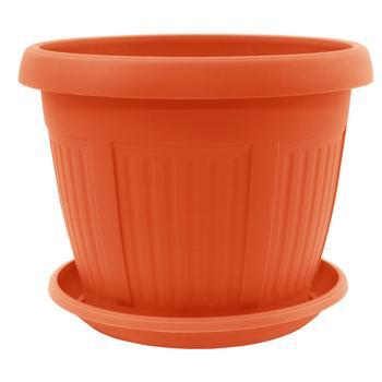 Aleana Nicole Terracotta Plastic Flowerpot With Support 19cm