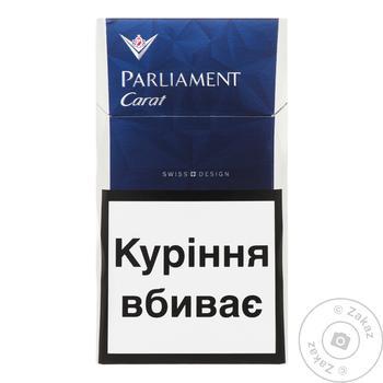 Сигареты Parliament carat blue - купить, цены на Таврия В - фото 1