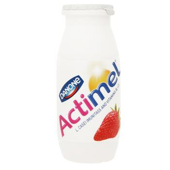 Danone Actimel Strawberry Flavored Fermented Milk Product 1,5% 100g - buy, prices for EKO Market - photo 1