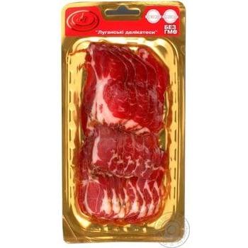 Neck Lugansk delicacies pork raw smoked Ukraine