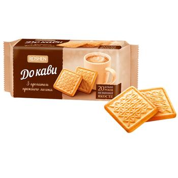 Печенье Roshen К кофе топленое молоко 185г - купить, цены на Varus - фото 1