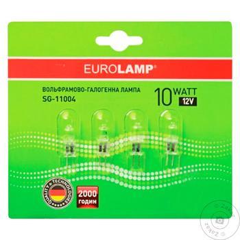 Лампа Eurolamp галогенова G4 10W 12V блістер 4 шт.