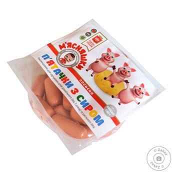 Сосиски Мясная гильдия Пятачки с сыром в/с - купить, цены на Ашан - фото 1