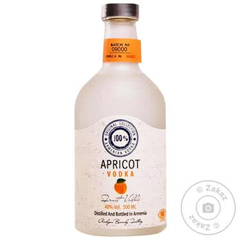 Водка плодовая Хент Armenian абрикос 40% 0,5л