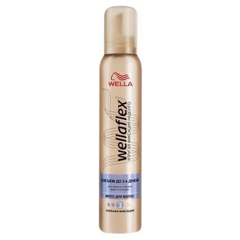 Мусс для волос WELLAFLEX Объём до 2 дней сильная фиксация 200мл