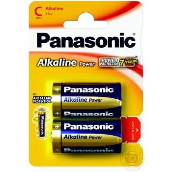Батарейки Panasonic Alkaline Power C 2шт - купить, цены на Novus - фото 1