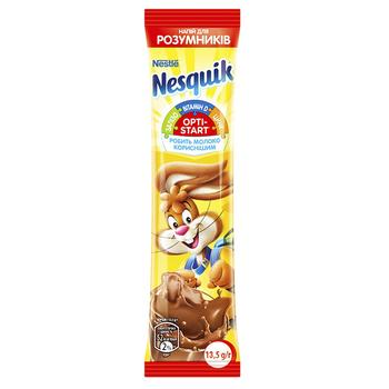 NESTLÉ® NESQUIK® OPTI-START chocolate flavour milk powder stick 13,5g - buy, prices for Auchan - image 1