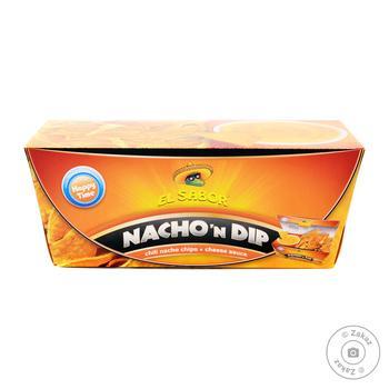 Начос и сырный соус EL Sabor набор 175г - купить, цены на Novus - фото 1