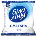 Сметана Белая Линия 15% 400г