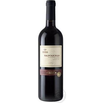 Вино Terre Di Verona Valpolicella Superiore красное сухое 13% 0.75л - купить, цены на МегаМаркет - фото 1
