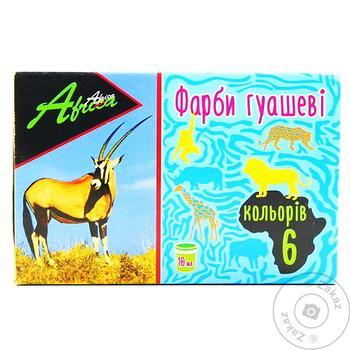 Краски гуашевые Africa 6 цветов - купить, цены на МегаМаркет - фото 1