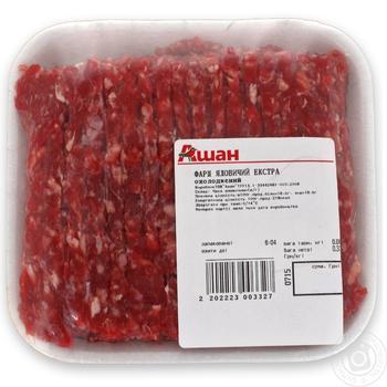 Фарш говяжий экстра - купить, цены на Ашан - фото 1