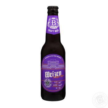 Пиво Volynski Brovar Weizen пшеничне світле нефільтроване 4.9% 0,35л