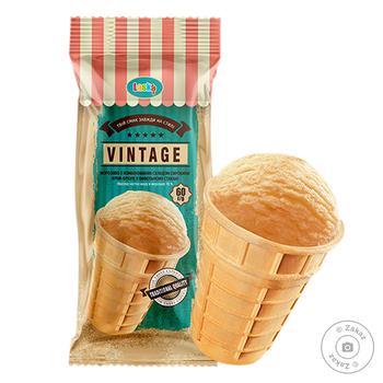Мороженое Laska Vintage крем-брюле стаканчик 60г