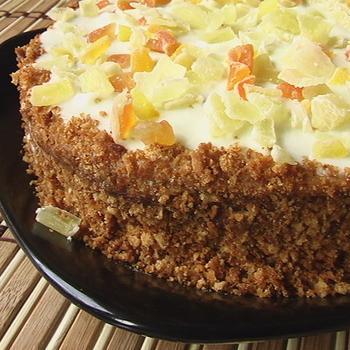 Медовый пирог со сметанным кремом (рецепт для микроволновки)