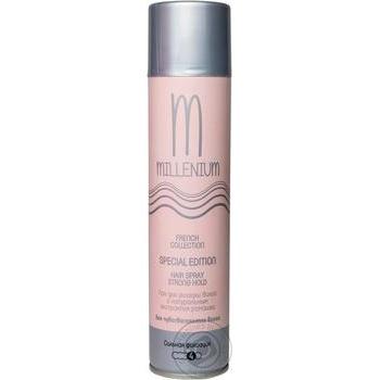 Лак Millenium Edition для укладки волос сильная фиксация с натуральным экстрактом жожоба 250мл