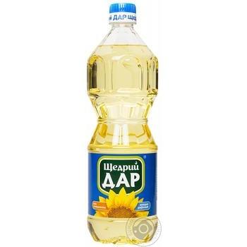 Олія соняшникова Щедрий Дар рафінована дезодорована виморожена марки П 0,87л - купити, ціни на Novus - фото 1