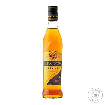 Alexandrion 5 stars strong alcoholic drink 37,5% 0,5l