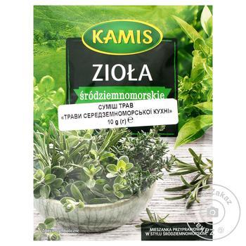 Смесь трав Kamis средиземноморской кухни 10г - купить, цены на Novus - фото 1