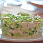 Куриный зеленый салат