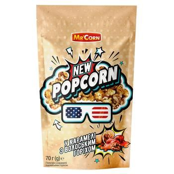 Mr. Corn In Caramel With Walnut Popcorn 70g - buy, prices for CityMarket - photo 1
