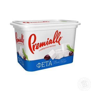 Сир Premialle Фета 45% 500г - купити, ціни на Фуршет - фото 1