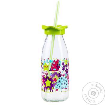 Бутылка для молока Renga 151954 с трубочкой 500мл - купить, цены на Таврия В - фото 1