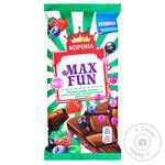 Шоколад молочный Корона Max Fun фруктово-ягодный 160г