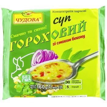 Суп гороховый Отличная традиционный с беконом 160г - купить, цены на Фуршет - фото 1