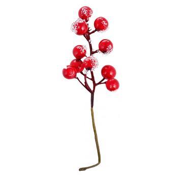 Ягоди зацукровані червоні 11 шт. на гілці 972787 - купить, цены на Таврия В - фото 1