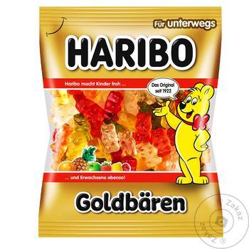 Цукерки фруктові жувальні Haribo Золоті ведмедики 100г