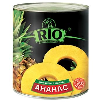 Ананасы Рио кольцами в сиропе 580мл Таиланд