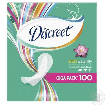 Ежедневные прокладки Discreet Deo Water Lily 100шт - купить, цены на Ашан - фото 1