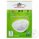 Рис Бест Альтернатива шлифованный длиннозернистый в пакетиках 5*80г